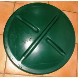 Poklop plastový zelený prům.600 mm
